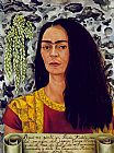 Frida Kahlo Self Portrait with Loose Hair painting