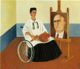 Frida Kahlo Self Portrait with the Portrait of Doctor Farill painting