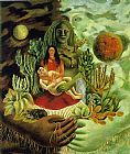 Frida Kahlo The Love Embrace of the Universe the Earth Mexico Me Diego and Mr Xolotl painting