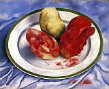 Frida Kahlo Tunas Still Life with Prickly Pear Fruit painting