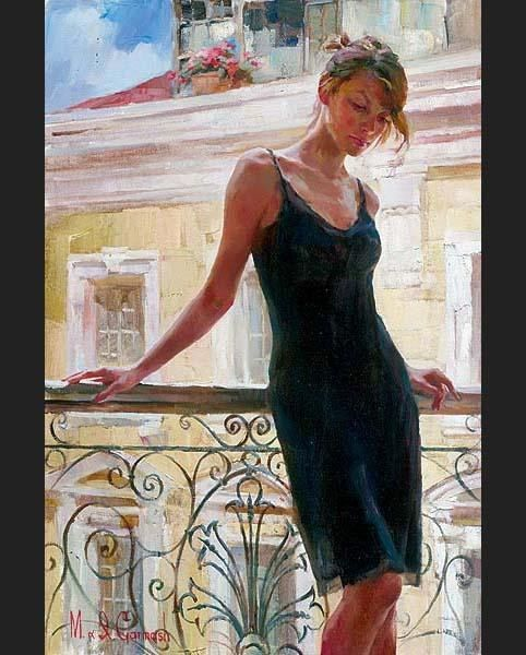 Garmash Afternoon on the Balcony