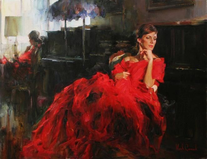 Garmash WOMAN IN RED