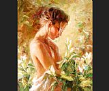 Garmash Lost in Lillies painting