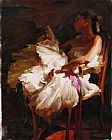 Garmash ON A SHORT BREAK painting