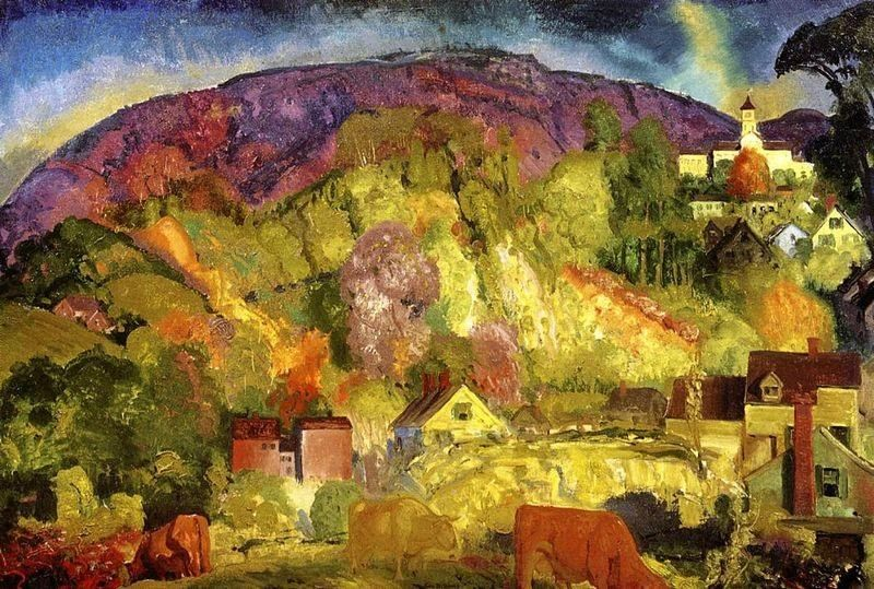 George Bellows The Village on the Hill