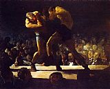 Boxing paintings - Club Night by George Bellows
