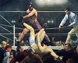 Boxing paintings - Dempsey and Firpo by George Bellows