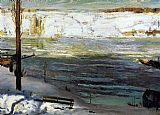 George Bellows Floating Ice painting