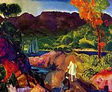 George Bellows Romance of Autumn painting
