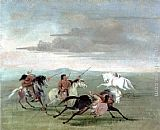 George Catlin Comanche Feats of Martial Horsemanship painting