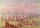 George Catlin Comanchee Village painting
