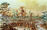 George Catlin De Tonty Suing for Peace in the Iroquois Village in January 1680 painting
