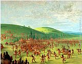 George Catlin Indian Ball Game painting
