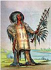George Catlin Mandan Indian Ha-Na-Tah-Muah Wolf Chief painting