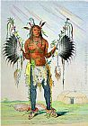 dancing bears Paintings - Mandan Medicine Man Mah-To-Hah Old Bear