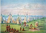 George Catlin Sioux Camp Scene painting
