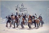 George Catlin Snow-Shoe Dance painting