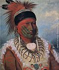 George Catlin White Cloud, Chief of the Iowas painting
