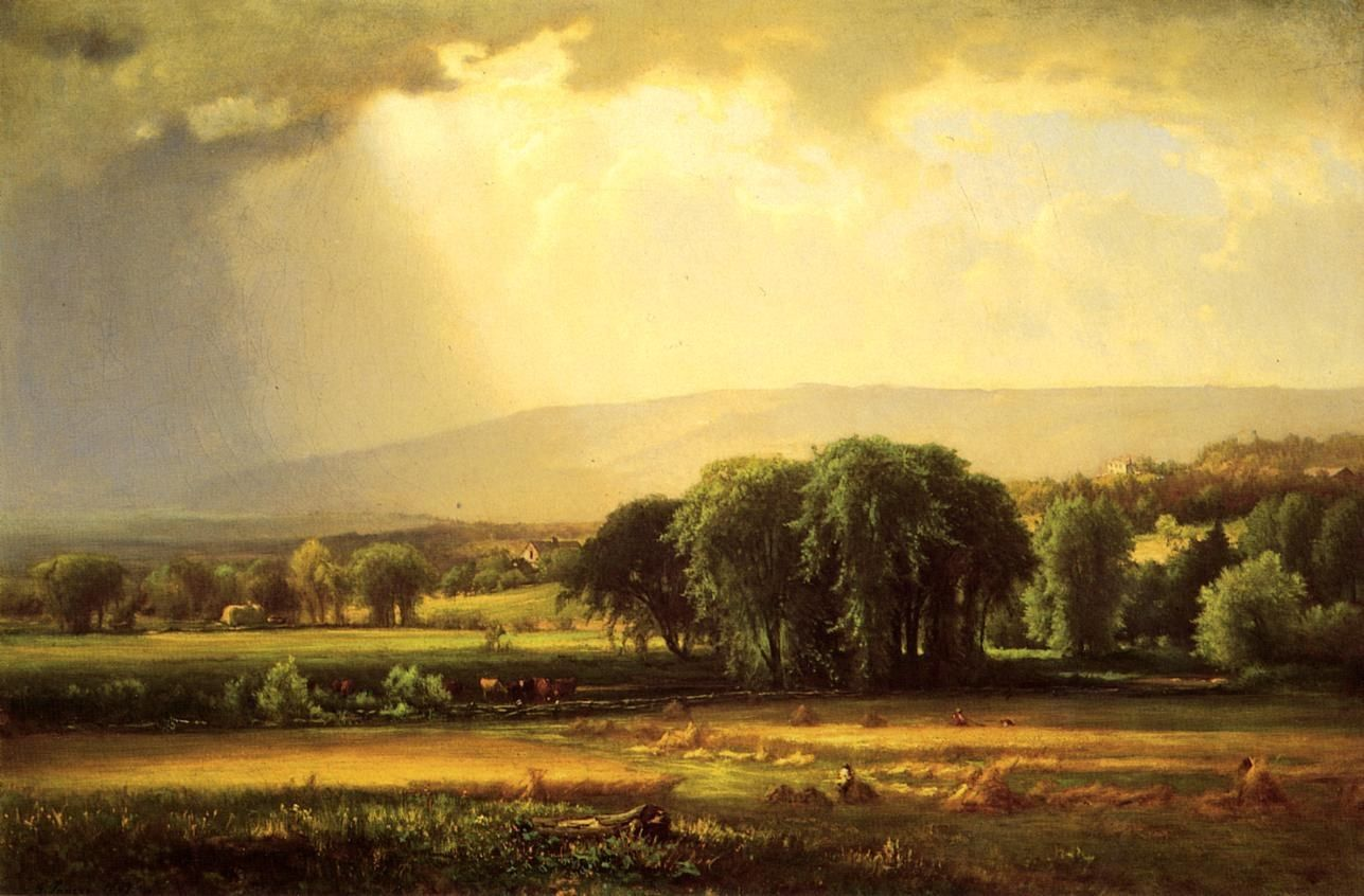 George Inness Harvest Scene in the Delaware Valley