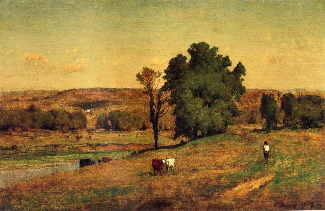George Inness Landscape with Figure