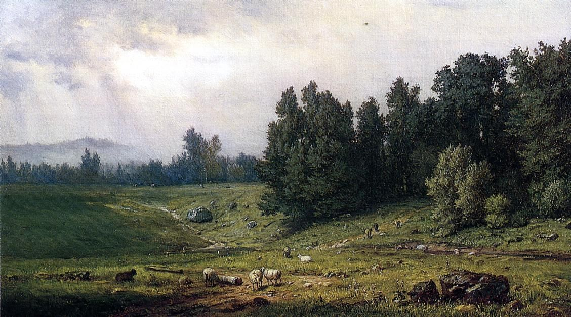 George Inness Landscape with Sheep