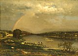 George Inness Delaware Water Gap painting
