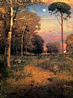 George Inness Early Moonrise Florida painting