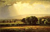 George Inness Harvest Scene in the Delaware Valley painting