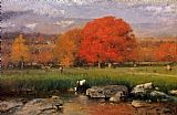 George Inness Morning Catskill Valley painting