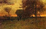 George Inness Sunset Glow painting