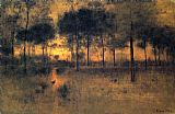 George Inness The Home of the Heron painting