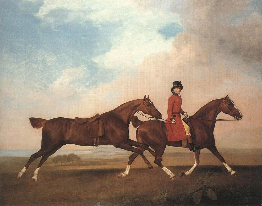 George Stubbs William Anderson with Two Saddle-horses