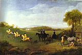 George Stubbs Racehorses Belonging to the Duke of Richmond Exercising at Goodwood painting