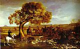 George Stubbs The Grosvenor Hunt painting