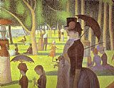 Georges Seurat A Sunday on La Grande Jatte Detail painting