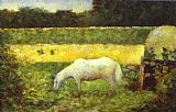 Georges Seurat Landscape with a Horse painting