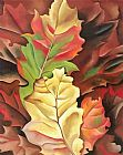 Georgia O'Keeffe Autumn Leaves painting