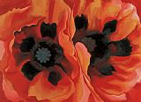 Georgia O'Keeffe Oriental Poppies painting