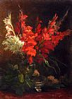 Geraldine Jacoba Van De Sande Bakhuyzen A Still Life With Gladioli And Roses painting