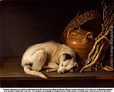 Gerrit Dou Resting Dog painting