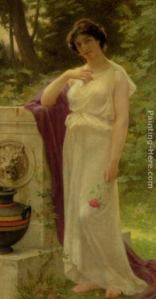Guillaume Seignac Young Woman with a Rose