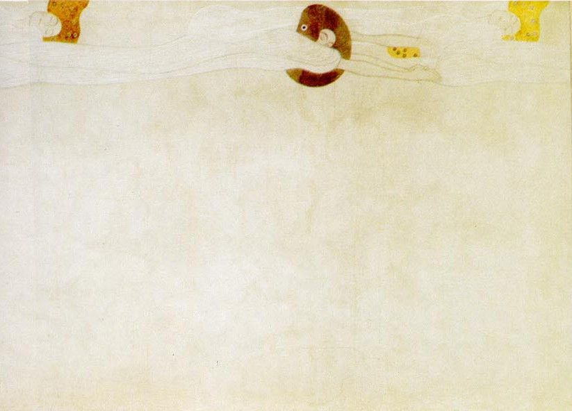 Gustav Klimt Entirety of Beethoven Frieze left1
