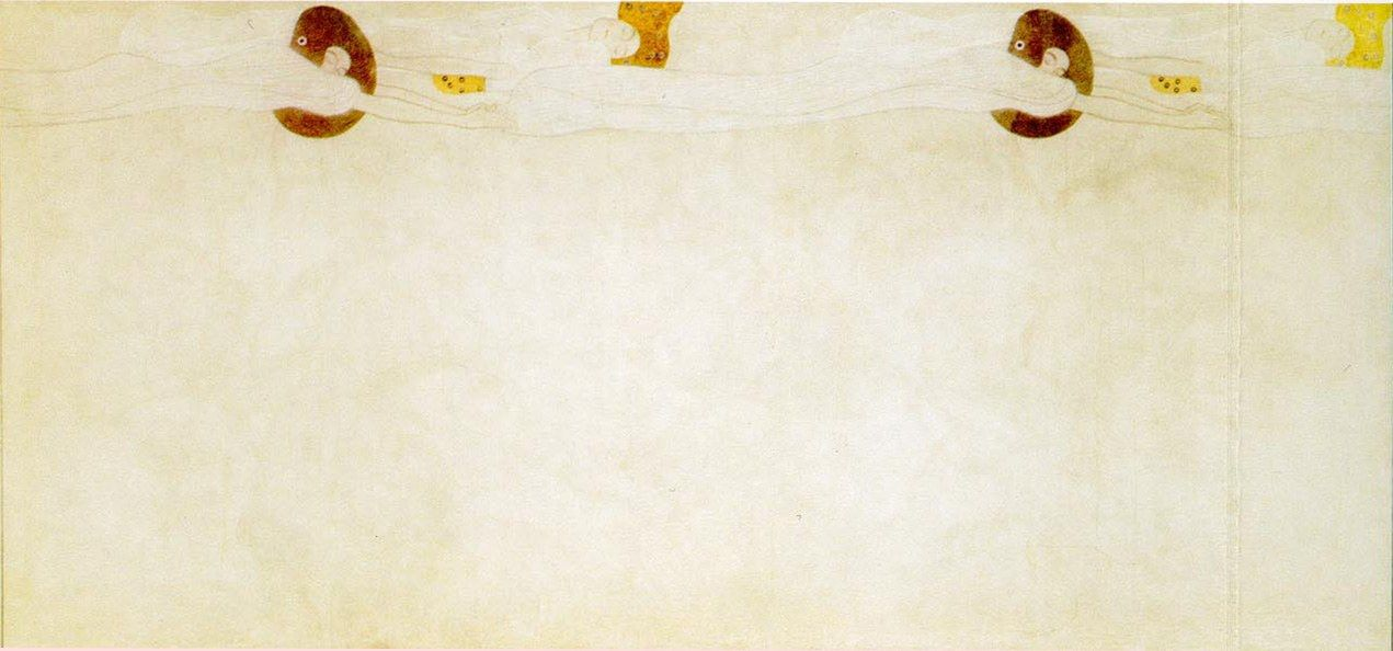 Gustav Klimt Entirety of Beethoven Frieze left2