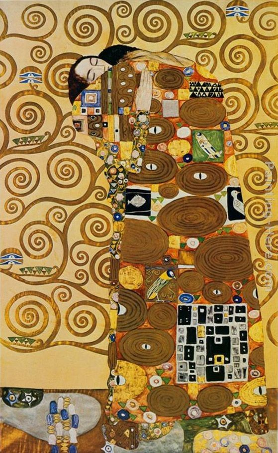 Gustav Klimt Fulfillment,Stoclet Frieze