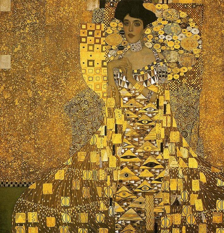 Gustav Klimt Portrait of Adele Bloch (gold foil)