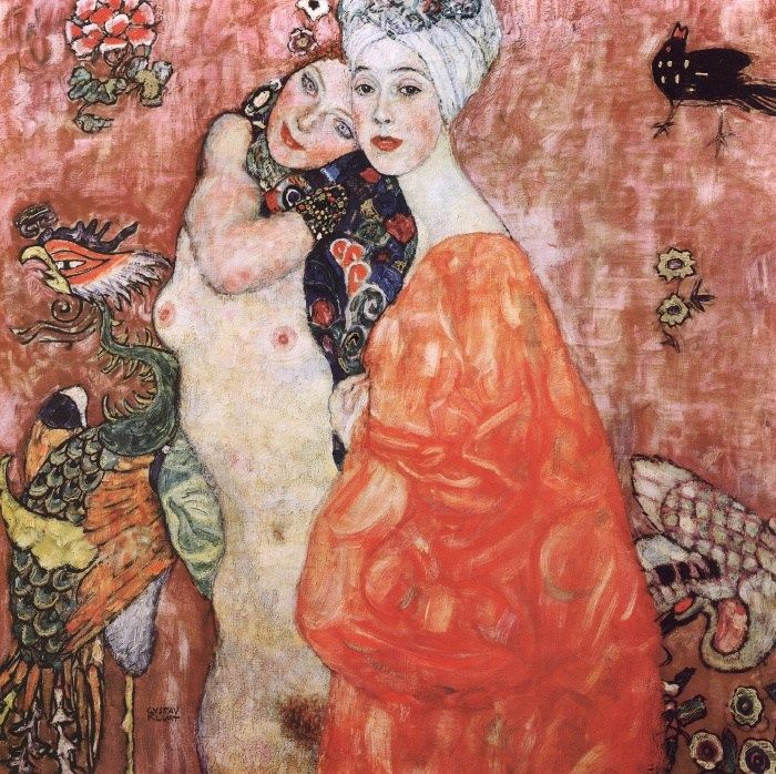 Gustav Klimt The Friends