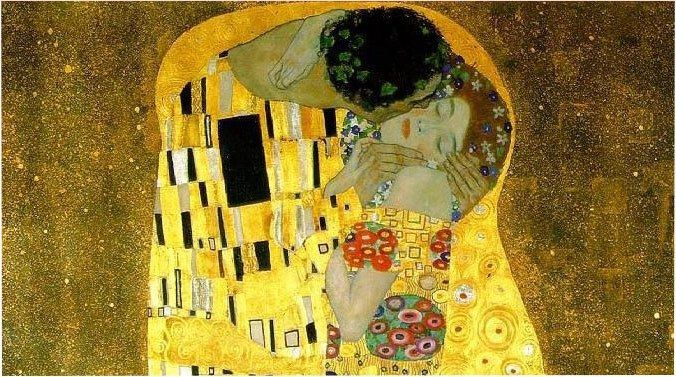 Gustav Klimt The kiss cropped