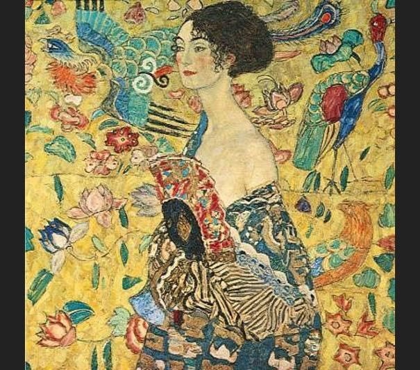 Gustav Klimt lady with fan I