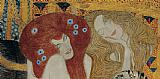 Gustav Klimt Beethoven Frieze (detail) painting