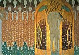Gustav Klimt Beethoven Frieze painting